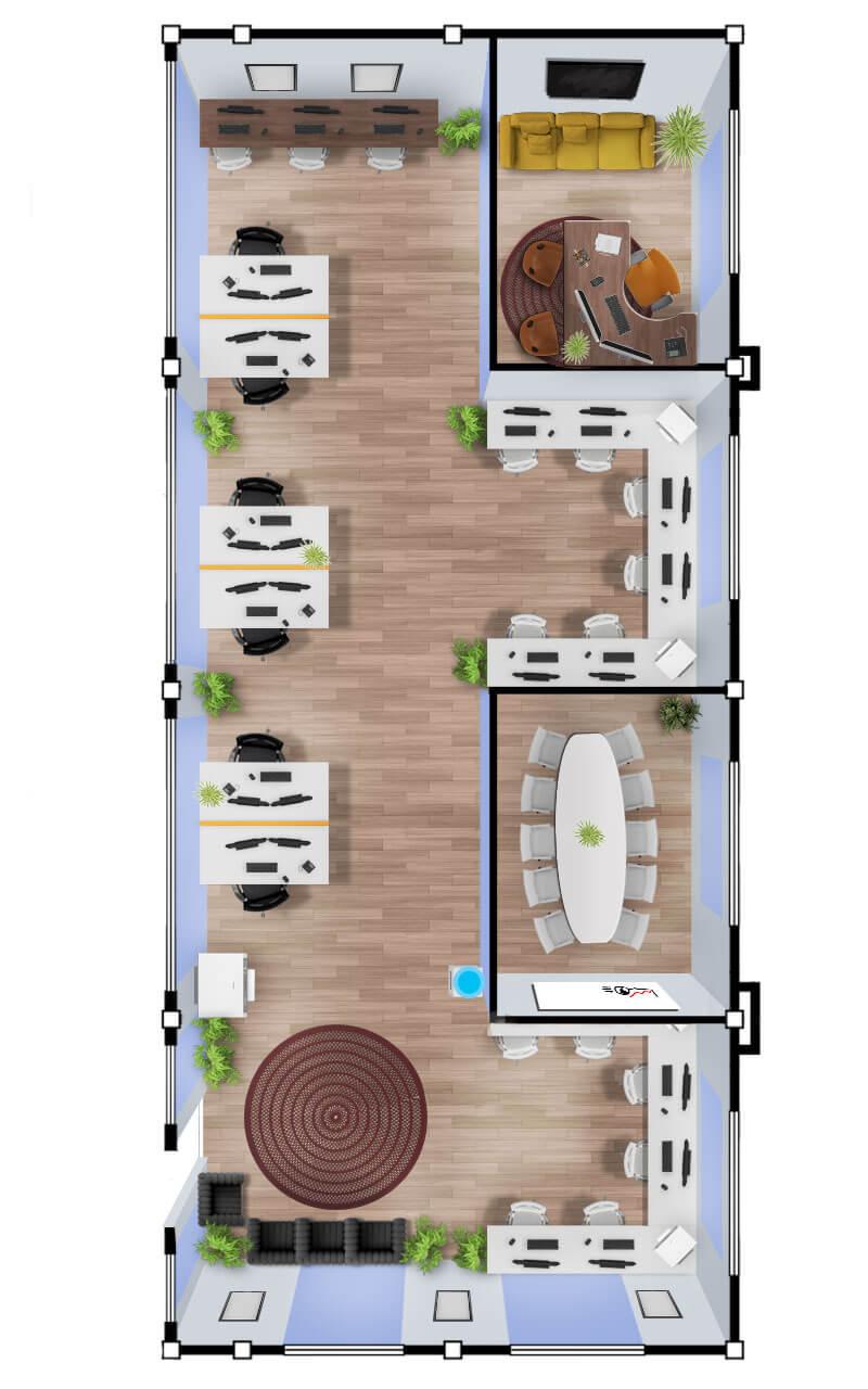 Large 160sqm Phuket Office Space (v4)